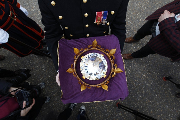 Close up of Jubilee Diamond - Presented to The Tower for safe keeping on 1st May 2012
